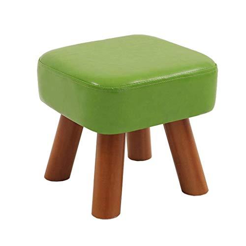 Leilims Tapizados StoolPU heces reposapiés Winding Zapato pequeño Banco de heces for niños Adultos (Color: Verde, tamaño: 28 cm