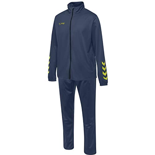 Hummel Herren Trainingsanzug Promo Poly Suit 205876 Dark Denim XL