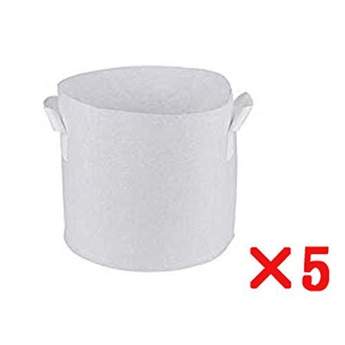 Sacs à Plantes Sac a Plante, 5 pièces Tissu Non tissé Sac de Plantes, Blanc Contenant Pot Peut être utilisé Plantes d'intérieur/extérieur,White,90 * 60cm