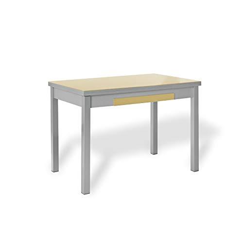 ASTIMESA Mesa de Cocina con Alas Beige 90x50cm