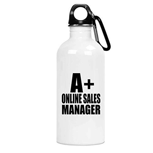 Designsify A+ Online Sales Manager - Water Bottle Botella de Agua, Acero Inoxidable - Regalo para Cumpleaños, Aniversario, Día de Navidad o Día de Acción de Gracias