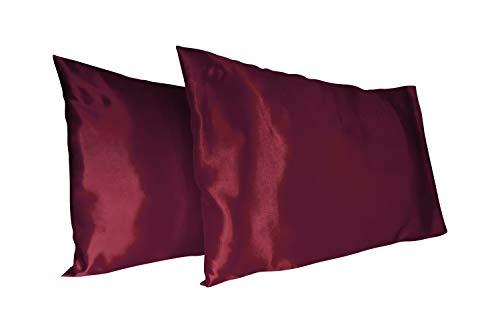 AGN Elegante Leinen-Satin-Kissenbezüge für Haar und Haut, super weich und luxuriös, Set mit 2 Kissenbezügen, Größen King Queen und Standard Queen(20x30)...