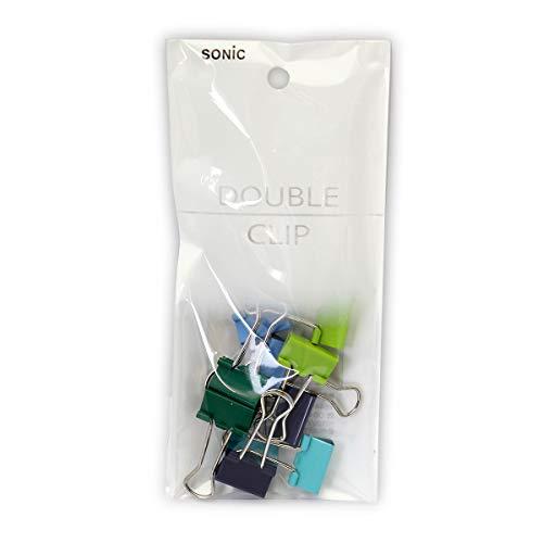 カラーダブルクリップ 小 10個入 青 青系色込 品番:GP-462-B 注文番号:61323131 メーカー:ソニック
