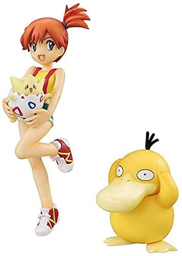 UanPlee-SC Anime Pokémon Misty and Togepi and PSYDUCK PVC Figure - 4 1 inch high LJ0422