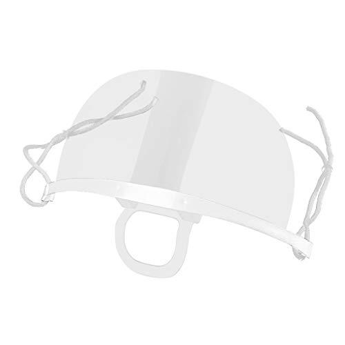 10 Stück Mund Nasenschutz Visier Kunststoff Transparent Mundschutz Schutzschild für Restaurants Küchen (A-Weiß)