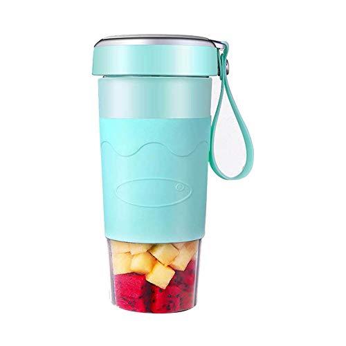 NZHK Draagbare blender, persoonlijke maat, elektrische usb-sapcentrifuge, 400 ml vruchtenmixer machine, oplaadbare USB-sapcentrifugefles voor sap, smoothie en milkshake, C