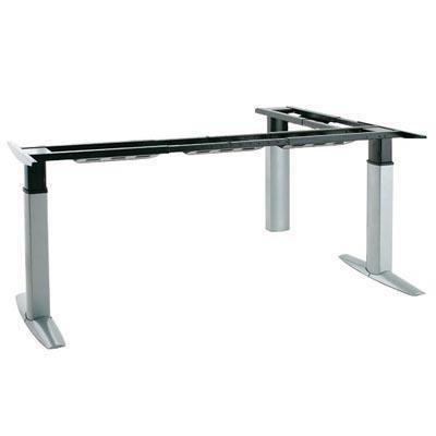 Elettricamente argento tavolo da conferenza scrivania treppiede regolabile