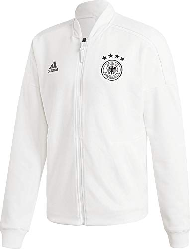 adidas Herren DFB Zone Jacket Knitted Trainingsjacke, White, M
