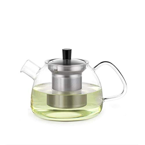 GONGFF Juego de té de Vidrio Taza Elegante Tetera Taza de té Engrosada Resistente al Calor con Filtro Máquina de té para el hogar Tetera de la Taza de la Ceremonia del té de la Oficina