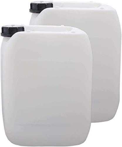 S-Pro Wasserkanister Trinkwasser mit Schraubverschluss, Lebensmittelecht, 2 x 10l für Haus, Garten und Camping Wasserbehälter, leer