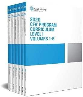 CFA Program Curriculum 2020 Level I Volumes 1-6 Box Set (CFA Curriculum 2020)