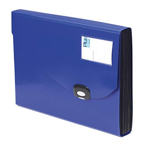 Rapesco 0675 - Carpeta Archivadora Tipo Acordeón con 7 Compartimentos, A4+, Azul