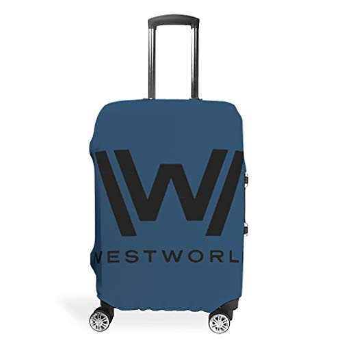 Luggage Cover West-World Washable Suitcase Protector No Dirty Fit Easily Four Sizes to Choose Anti-Scratch Suitcase Cover Fits 18-32inch Perfect Gift for Trip White m(22-24 inch)