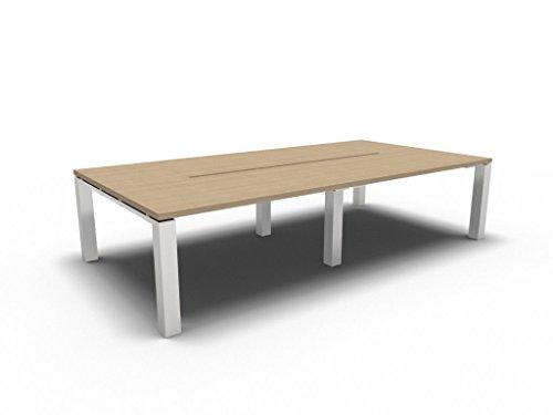 Bralco Konferenztisch Jet EVO groß, Besprechungstisch, Meetingtisch in verschiedenen Dekoren, Konferenzmöbel