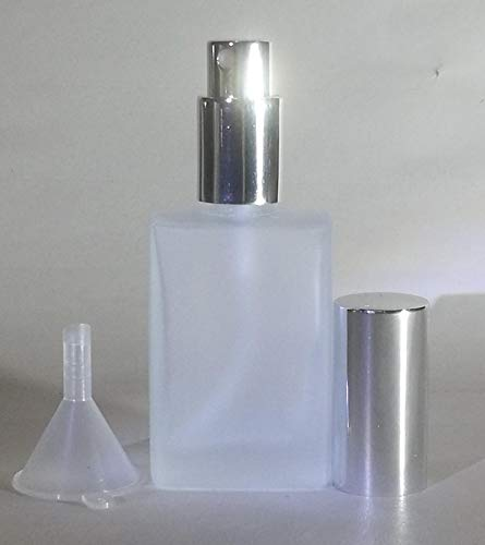 Parfum Flakon – Mattglas vide – Avec entonnoir – 30 ml – Capuchon argenté