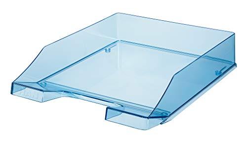 HAN Briefablage KLASSIK TRANSPARENT – 6 STÜCK, moderne, transparente und stapelbare Ablage im frischen Design bis Format A4/C4, transparent-blau, 1026-X-26