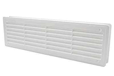 """Door Air Register - Two Sided Door Louvers - Ventilation Grille - Indoor Vent Grates - Bathroom, Cabinet, Garage Through The Door Vent Cover, Color: White - 18""""x5"""" from Vent Systems"""