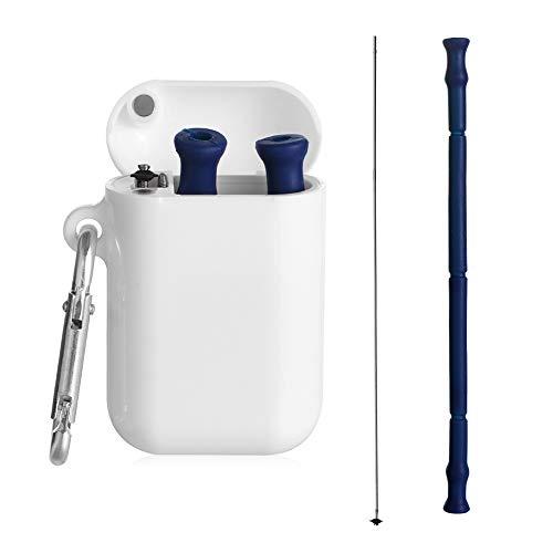 Lixinli 3PCS Strohhalme Tragbares Silikonstrahlzubehör des Häuslichen Lebens Im Freien Für Küche Und Essenstrohhalme(Blue)
