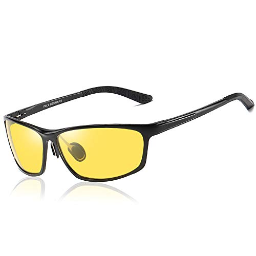 Duco Night-vision Glasses For Headlight Polarized Driving Glasses 2179 (Black, Yellow)