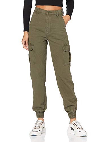 DR. DENIM Ruby Cargo Trouser Pantaloni, Smeraldo Scuro, XS Donna