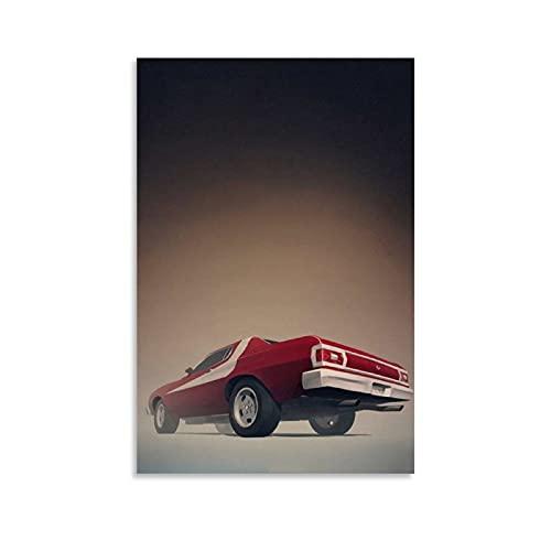 JUEDIN Famoso póster de coche, 40 x 60 cm