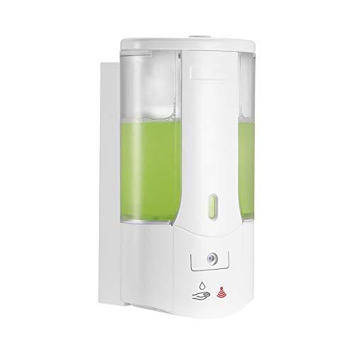 ACELEY Dispensador de jabón automático de 400 ml, dispensador de jabón con Sensor montado en la Pared, contenedor de champú desinfectante para Manos sin Contacto para el baño de la Cocina doméstica