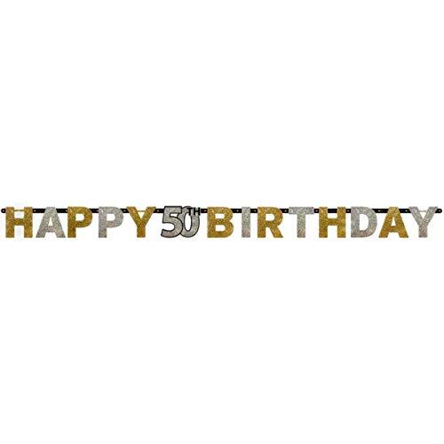 Pfeif auf's Alter 50 im Geschenke Set für Frauen und Männer zum Geburtstag Geldgeschenk Umschlag mit Kräuterlikör oder Piccolo 22 Karat Blattgold Gold pink rosa schwarz (Party Set 50 Gold 1004) - 6