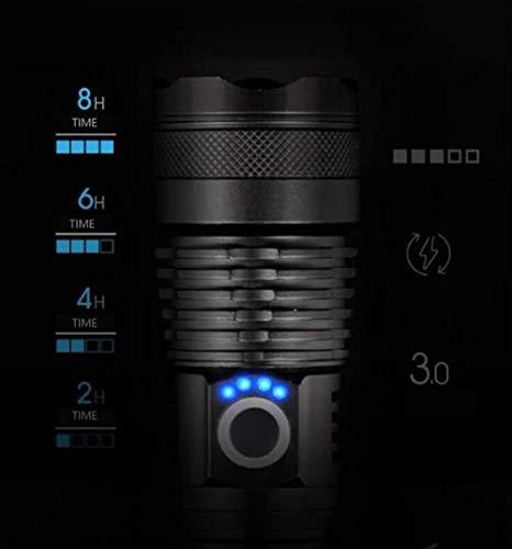 Leistungsstärkste LED-Taschenlampe USB Zoom Tactical Torch Xhp50 18650 oder 26650 Akku Handleuchte Xhp50