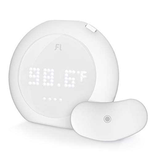 moleath Smart Baby Thermometer, Real-Time Temperature Continuous Monitor with Fever Alarm, 30H Battery Life, Wearable Armpit Fever Monitor