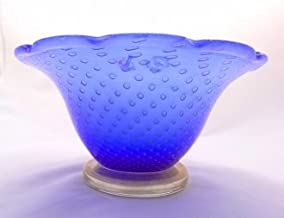Murano Glass Gifts Blue and Gold Bowl vase