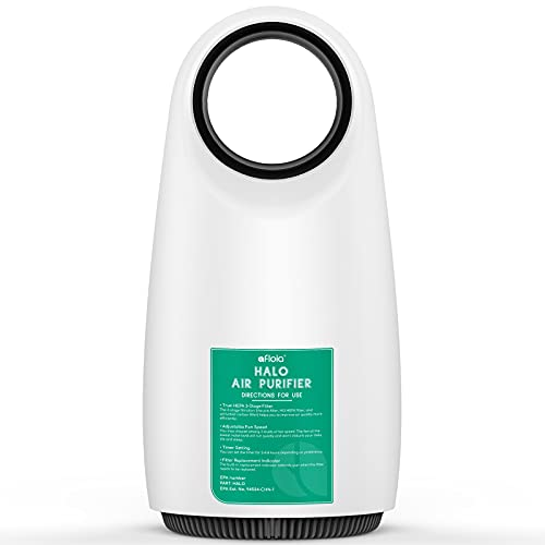 Air Purifier for Home/Office, Afloia Air Cleaner H13 HEPA Filtration removes 99.97% Air Contaminants up to 500 ft², 3-Stage Filter for Pet Dander/Odor/Smoker, Bladeless Design, 3 Speed and Night Light