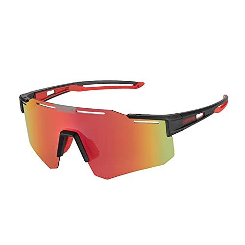 YYLI Gafas De Sol Deportivas Polarizadas, Gafas De Ciclismo con 1 Lentes Intercambiables Fotocromáticas, Protección UV400 Gafas De Sol Ligeras para Ciclismo Deportivo MTB