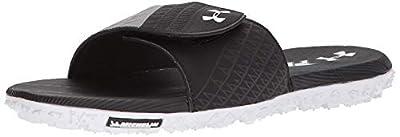 Under Armour Men's Fat Tires Slide Sandal, Black (002)/Steel, 11