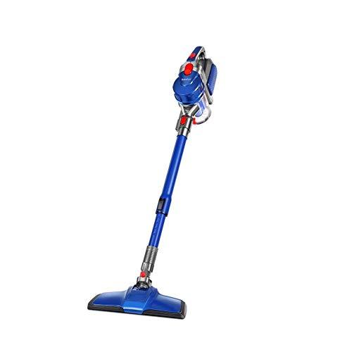 Yhtech 2 en 1 limpiador de vacío, azul, 8 kPa 150W giratorio ultra ligero vacío con cable Stick, una fuerte succión portátil versátil raqueta for aspiradoras sin bolsa for el piso de la alfombra del c