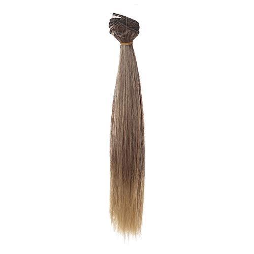 Amphia Perücke,25 cm GroßHandel Glattes Haar DIY/BJD Perücke Puppe - Hitzebeständige, natürliche,Cosplay Party Perücke, Karneval Perücke