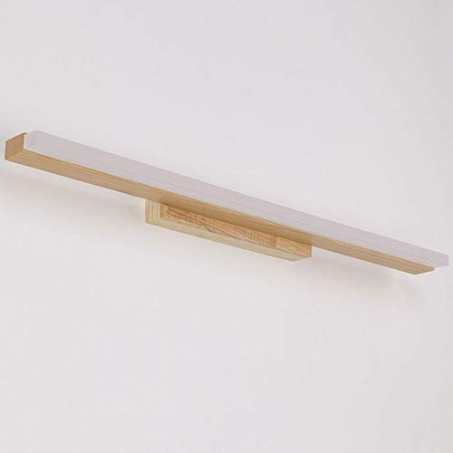 Lyuez LED massief houten spiegel koplamp spiegel kast make-up toilettafel lamp waterdicht wasruimte eenvoudige verlichting slaapkamer bedlampje nachtlampje nachtlampje