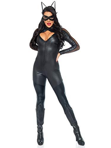 Leg Avenue 85412 Costume Per Travestimento Da Gatta Wicked Kitty, Donna, S