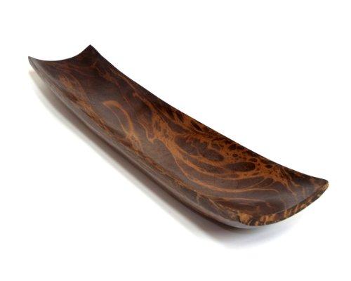 Leewadee Dekoschale Dekorative Holzschale, 51x10x4 cm, Mangoholz, braun