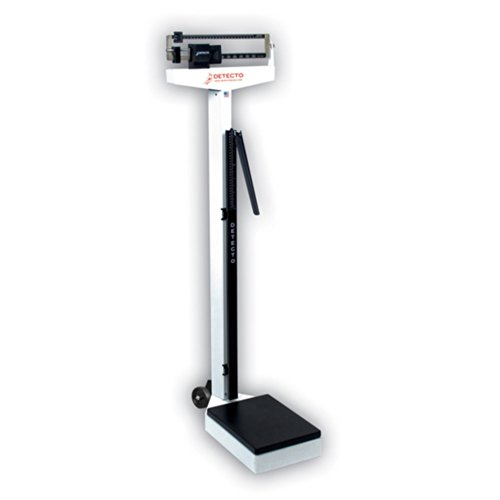Detecto Eye Level Physician Beam Scale with Height Rod and Wheels, 338