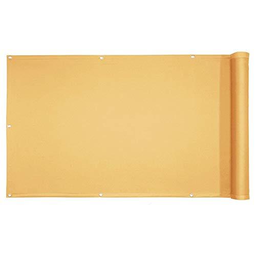 YIFANDU Pantalla de Privacidad 0.85x4m Protección de la Privacidad Toldo Lateral Balcon Fácil Instalación para Balcones y Terrazas, De Color Crema