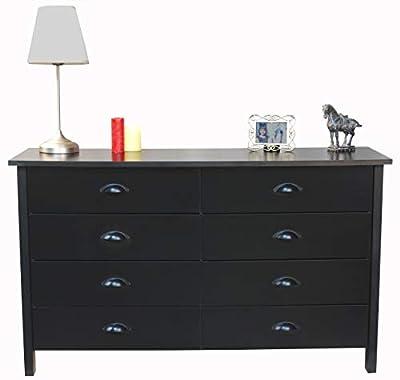 8 Drawer Nouvelle Dresser Black