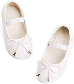 Bear Mall Little Girl Flats Slip-on Ballet Flats Black Uniform Mary Jane Shoes for Toddler Girl Dress Shoes (Toddler/Little Kid)