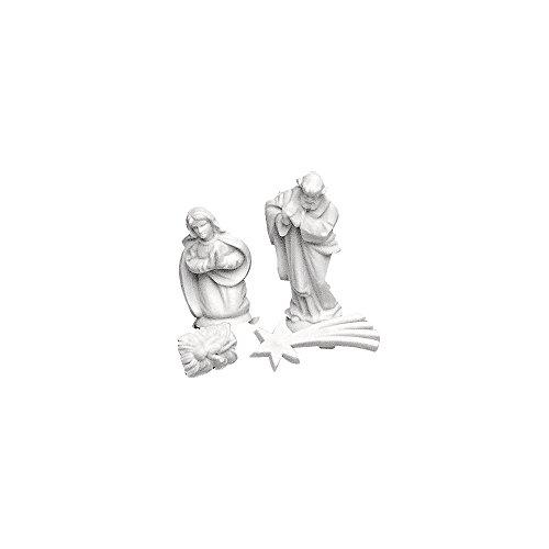 Rayher 8619300 Krippenfiguren Heilige Familie + Komet, 20 mm