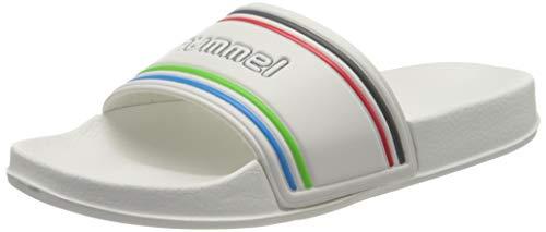 Hummel Unisex-Erwachsene Pool Slide Retro 206575, Weiß (White 9001), 44 EU