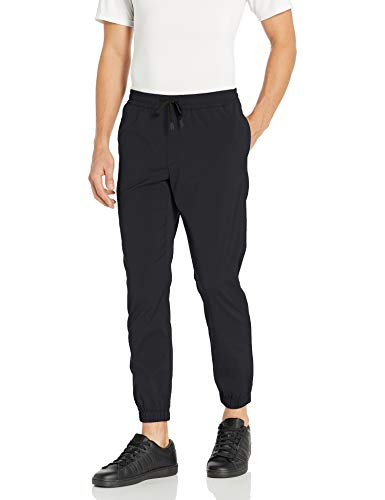 Amazon-Marke: Peak Velocity Gewebter Allround-Jogger athletic-pants, schwarz, US M (EU M)