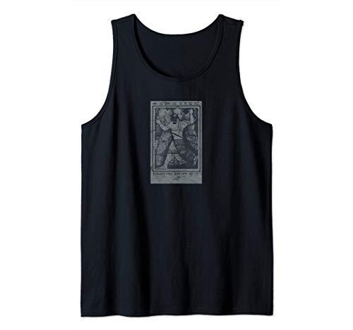 Enki Sumerian Mythology Ancient Astronauts Occult Tarot Tank Top