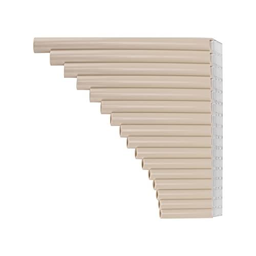 Flauta De Pan De 16 Tubos, Flauta De Pan Tienen Una Vida útil Más Larga Toca Fácilmente Una Canción Con Material ABS Para Desarrollar El Sentido De La Música(blanquecino)