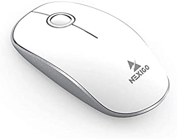 NexiGo Ultra-Slim Cordless Mouse w/Built-in USB Receiver (White or Black)