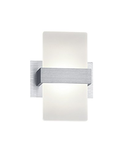 Trio Leuchten LED Wandleuchte Platon 274670105, Aluminium, Schirm Acryl weiß, 1 x 4.5 Watt