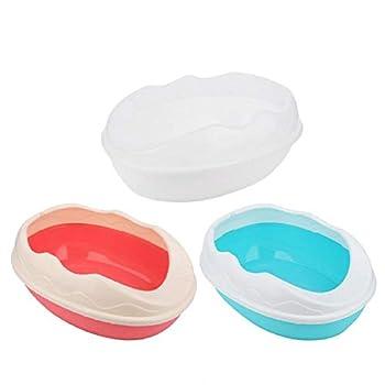 MYYXGS Toilette pour Chat BoîTe à LitièRe pour Animaux Semi-FerméE Bac Anti-éClaboussure Toilette Pot Toilette pour Chat en Plastique avec Pelle